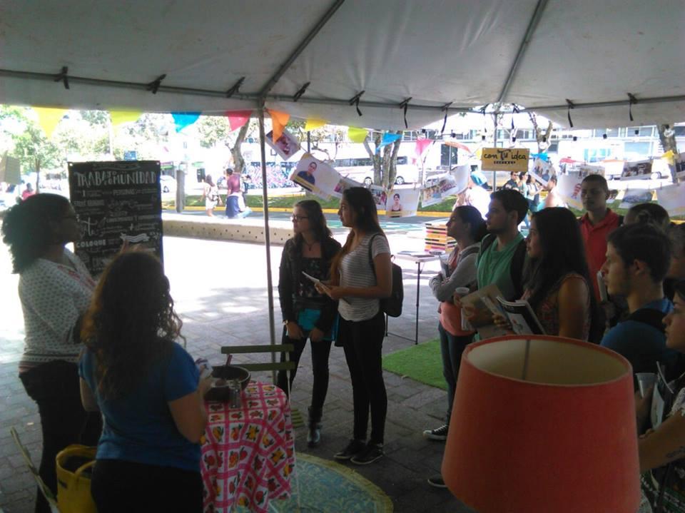 Las y los estudiantes interactuaron brindando sus ingredientes para el trabajo con comunidades.