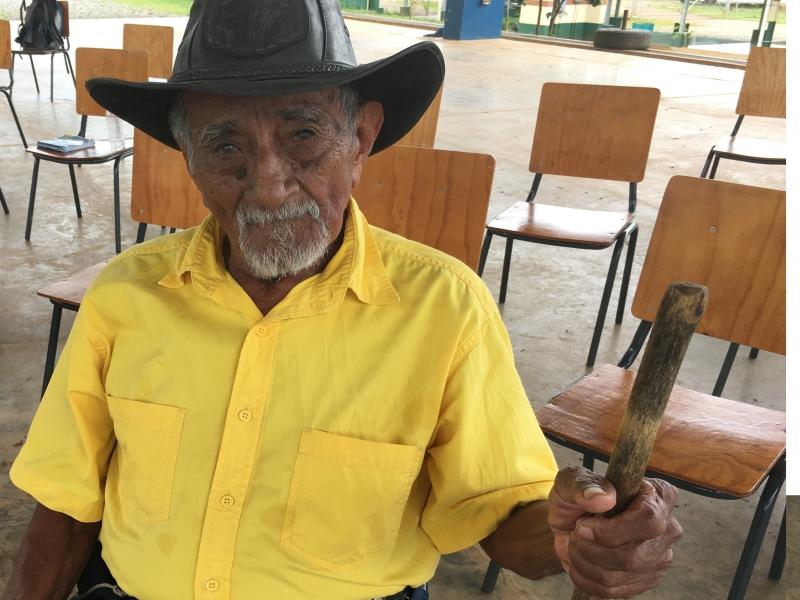 Serafín Ortiz Ortiz es la persona Bröran de mayor edad, pronto cumplirá 104 años, y ha sido un activo líder en defensa del territorio heredado de sus antepasados.