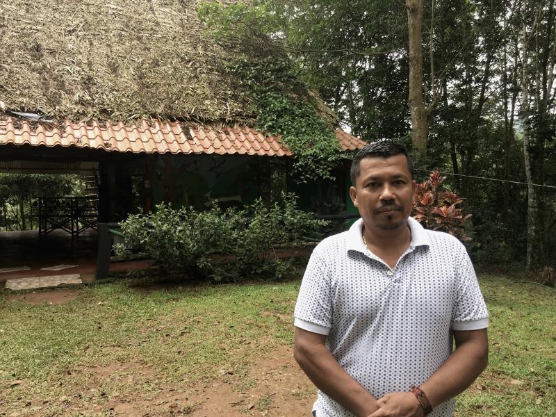 Jeffrey Villanueva Villanueva dirige el proyecto etnoturístico El Descanso, uno de los emprendimientos surgidos en el territorio Bröran.