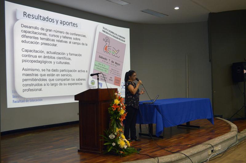 Presentación del proyecto ED-3017: Proyecto de actualización permanente para docentes de educación preescolar. Fotografía: Laura Camila Suárez