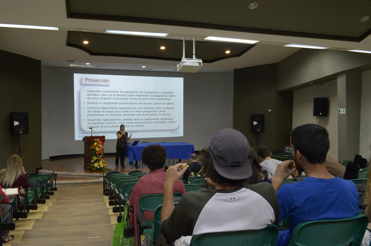 Sesión de la mañana, I Jornada de Difusión de la Investigación, la Acción Social la Docencia y Expoinvestigación. Fotografía: Laura Camila Suárez