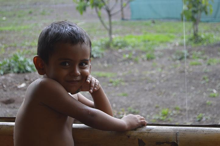 Santiago Castellón es uno de los niños que participaron de la actividad. Su alegría, su entusiasmo y sus ganas de divertirse motivan a todos y todas.