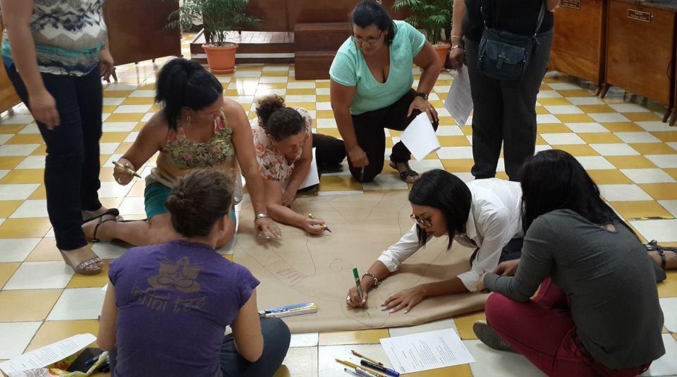 Diagnóstico comunitario por distrito. Tomada por Mariam Vargas Rodriguez.