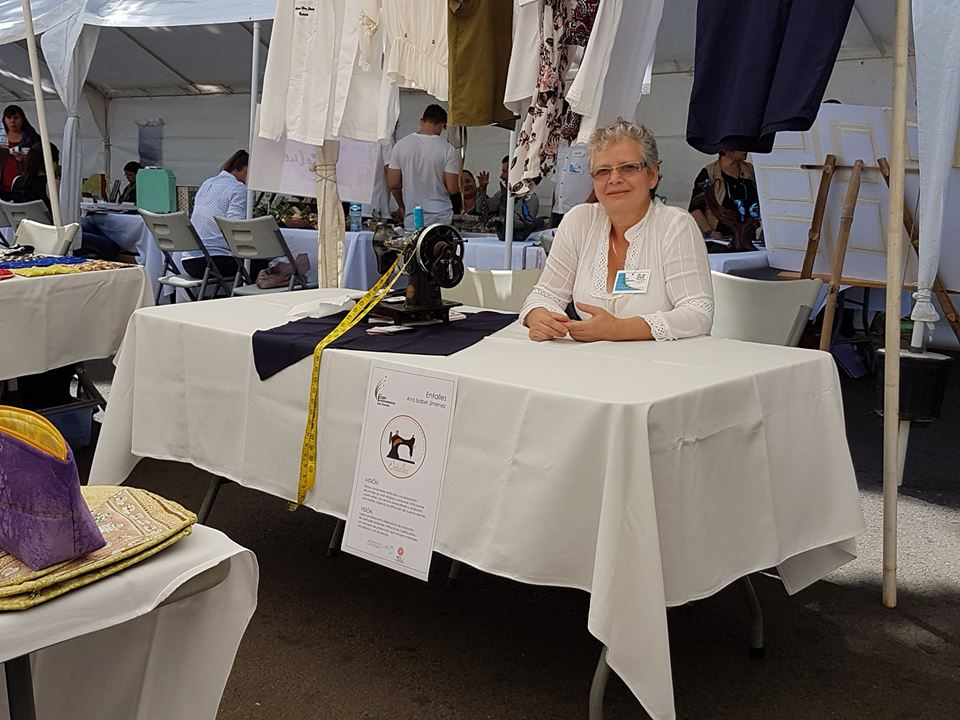 Ana Isabel Jiménez. Feria de emprendedoras San Ramón.  Tomada por Mariam Vargas Rodriguez.