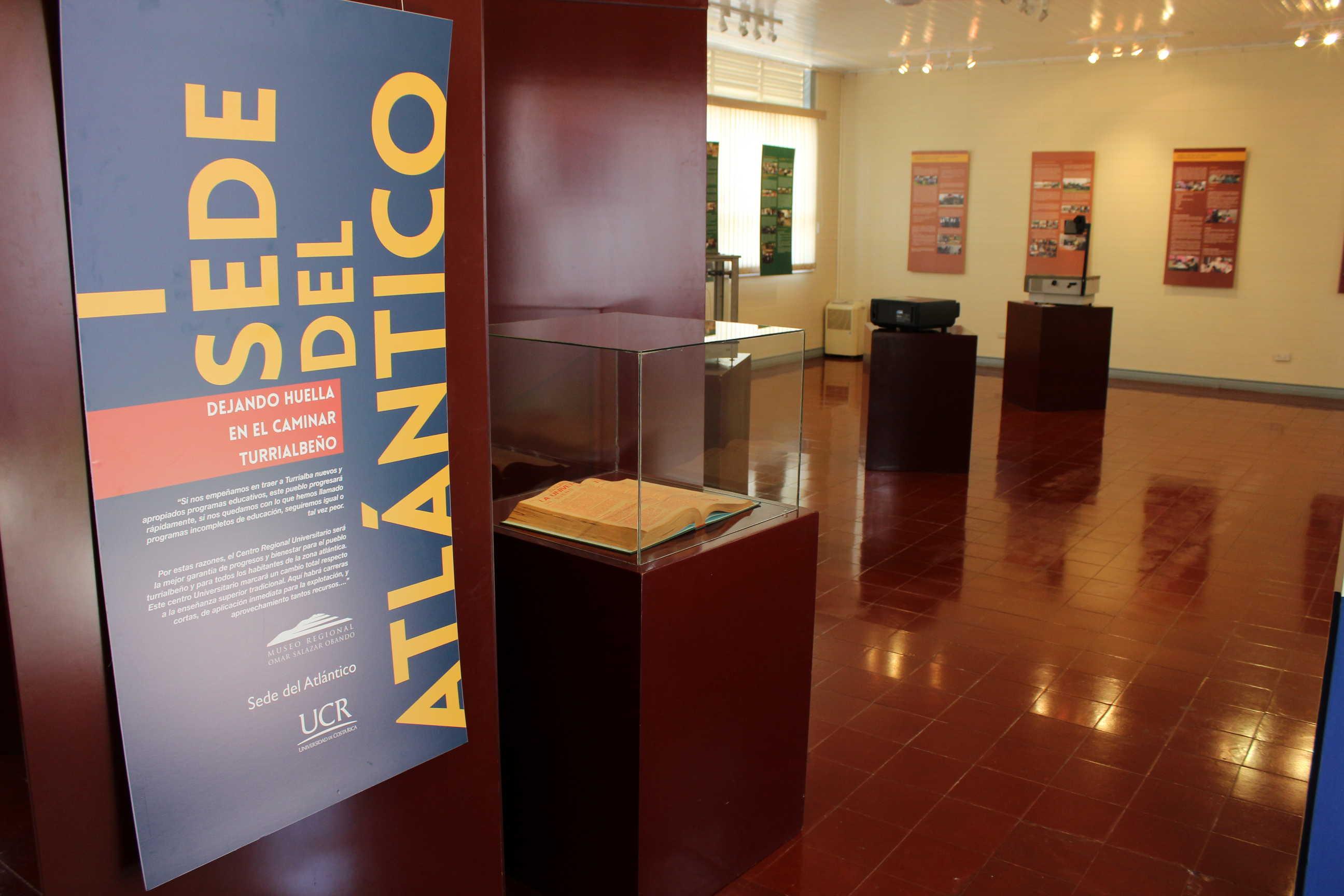 Exposicion permanente sobre fundacion de sede del Atlántico.