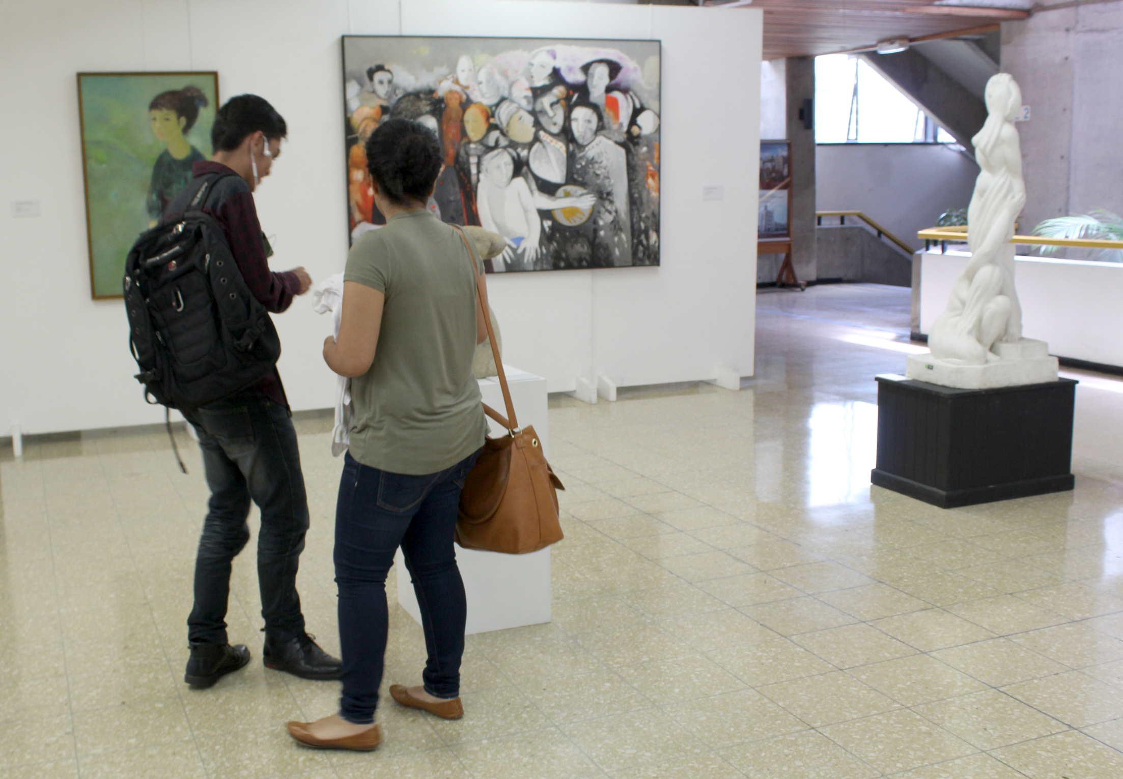 Exposición Seis maestros de la Academia de Bellas Artes de 1968. Fotografía: Adriana Araya.