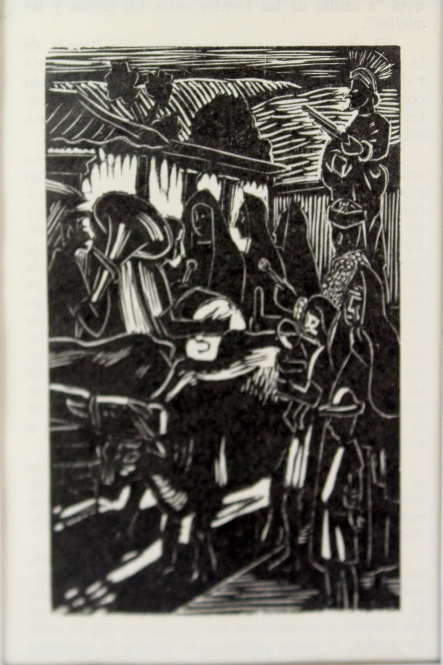 """Obra de Francisco Amighetti, llamada """"Ilustraciones del libro Francisco en Costa Rica"""". Fotografía: Adriana Araya."""