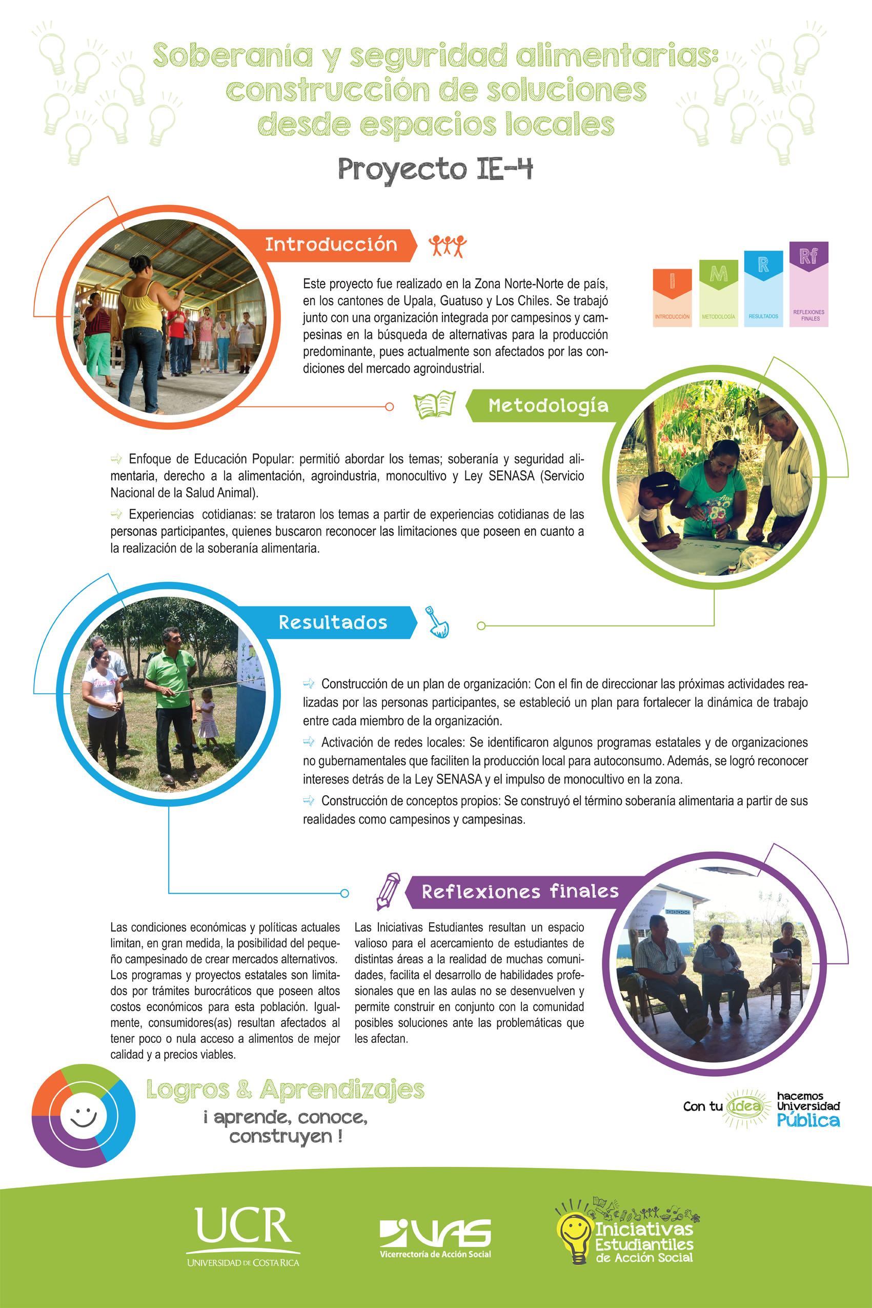 Soberanía y seguridad alimentarias, construcción de soluciones desde espacios locales.  IE-4.