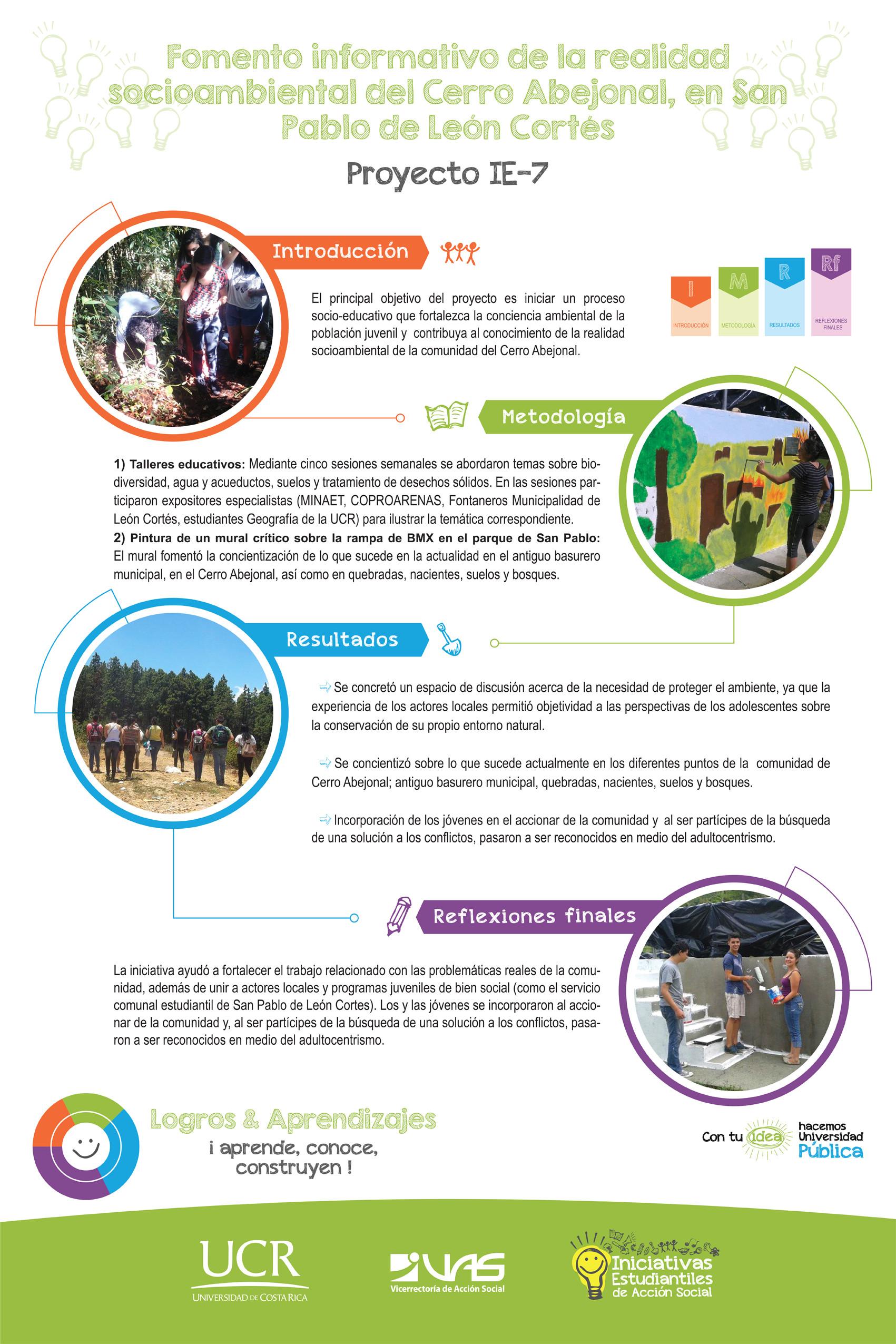 Fomento informativo de la realidad socioambiental del Cerro Abejonal.  IE-7.
