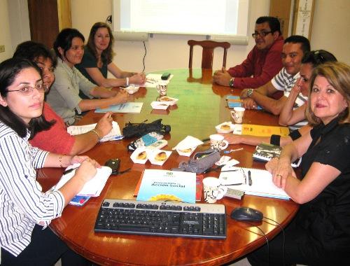 Representantes Consejo Etapas Básicas de la Música y Vicerrectoría de Acción Social