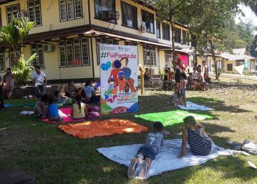 El 4 de febreroen los jardines del recinto se realizó un sábado familiara con actividades deportivas y recreativa (foto cortesía Patricia Rojas).