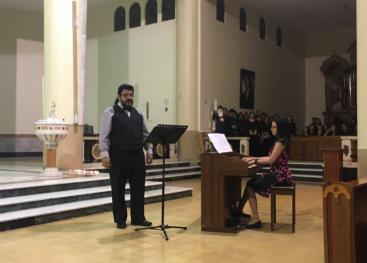 Un concierto de música sacra con el tenor Ernesto Rodríguez, Tanya Cordero al órgano  interpretaron distintas composiciones. Fotografía Annette Seas