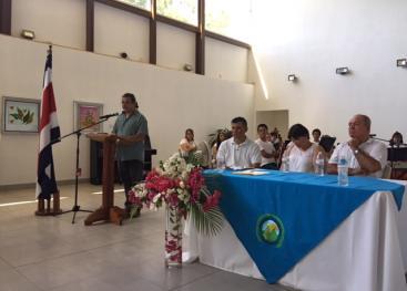 Se firmó un convenio de colaboración entre el gobierno local de Cóbano y la Sede Universitaria. Fotografía Sede Arnoldo Ferreto.