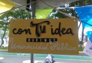 """""""Con tu idea hacemos Universidad Pública"""" fue el lema que identificó el espacio de las iniciativas estudiantiles."""