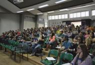 Asistentes a la sesión de la tarde, I Jornada de Difusión de la Investigación, Acción Social, Docencia y Expoinvestigación. Fotografía: Laura Camila Suárez