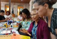 Actividades con libros y decoración. Foto: Mariam Vargas.