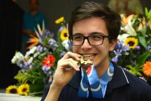 Daniel León Jiménez fue el ganador del nivel Máster, y estará participando en la Olimpiada Internacional 2016. Fotografía de Rafael León.