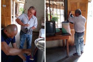 Proceso de pasteurización del vino de coyol, en la imagen el tanque de almacenamiento. Foto cortesía del ED-3291