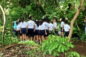 Fotografía: Ericka Leiva y Juliany Calderón. Niños de la Escuela del Recinto de Santa Cruz participaron en las visitas guiadas al Bosque San Ramón Álvarez.