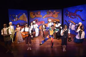 La obra es interpretada por estudiantes y egresados de la Escuela de Artes Dramáticas. Fotografía Pablo Molina