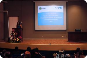 El discurso inaugural de la defensa de los proyectos estuvo a cargo de la M.Sc. Eugenia Gallardo, en representación de la Vicerrectoría de Acción Social.