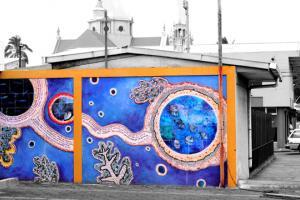 Poemas gráficos ha involucrado a los artistas locales mediante un concursos.Fotografìa Sede de Occidente