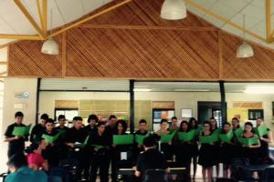 El Taller de coro, impartido durante tres años forma parte del programa de Estudios Generales y ha permitido el desarrollo del Coro Universitario de Guapiles con participación de la comunidad. Fotografía: Diego Castillo.