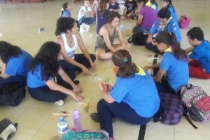 Participantes recibieron talleres educativos y recreativos. Fotografía: Patricia Rojas, Recinto de Golfito.