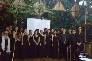 El II Convivio Coral Turrialba 2017 contó con la participación de tres coros: Coro EMUSPAR, de la Escuela Municipal de Paraíso, Coro ARMENTUM, de Tibás y Coro Zafra. Fotografía EC-392.