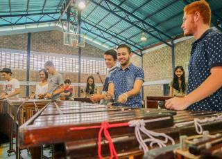 En el campamento de marimbas de la Sede de Occidente participaron personas de comunidades de San Ramón, Palmares, Heredia, Puntarenas, Esparza, Naranjo, Grecia, San Carlos, Puriscal, entre otras.