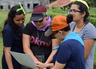 """Campamento de Iniciativas Estudiantiles de la Vicerrectoría de Social UCR 2017 """"Dejando Huella"""". Fotografía: Fabiola Cordero Cantillo."""