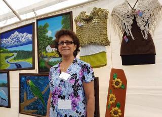 Mery Montero en la Feria de emprendedoras. Fotografía de Mariam Vargas Rodríguez