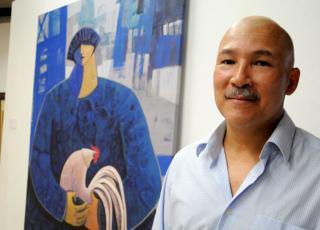 El limonense Guillermo Porras On es descediente de chinos de Yanpeng, Cantón, y su obra se inspira en la riqueza caribeña.  Foto: Instituto Confucio
