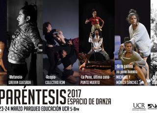 Para más información: Correo electrónico: danzauproduccion@gmail.com Facebook/ danzaUCR o www.danzau.ucr.ac.cr, teléfonos 25115564/ 83793719