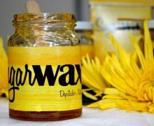"""""""Sugar Max"""" es una crema depilatoria a base de azúcar (Expoinnova 2015). Fotografía de Esteban Cubero."""