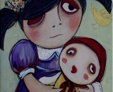 """Obra de Silvia Ramos llamada """"Instante Mágico"""", técnica acrílico. Fotografía: Adriana Araya."""